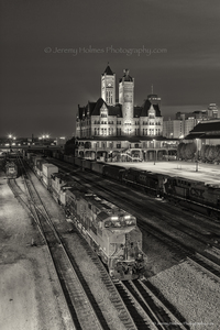 984/ Union station Nashville. Sepia tone added