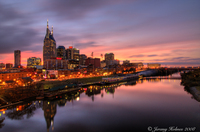 Nashville, TN Skyline Framed Print #3 of 25 Limited edition. Hand Signed and numbered by the artist